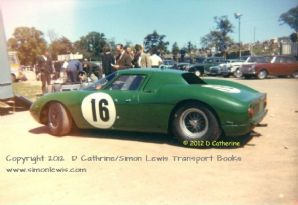 "FERRARI 250LM David Piper Mallory 1966. Colour 10x7"" Photo"